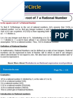 Is the Square Root of 7 a Rational Number
