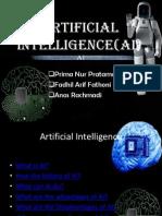 Artificial Intelligence(Ai)