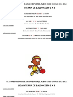 Liga Interna de Baloncesto 3 x 3 2011-2012