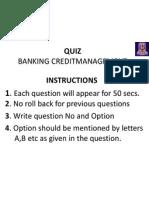 Automated Quiz- Credit Management