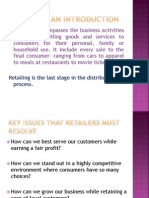 Retail Lecture 1