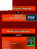 B Lynch Suturing