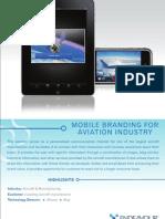 Mobile Branding for Aviation Industry