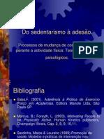 Do sedentarismo a¦Ç adesa¦âo. Modelos e teorias