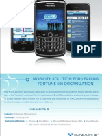 Mobility Solution for a Leading Fortune 500 Organization