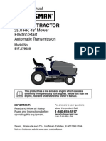Craftsman Garden Tractor 917.276020 Owners Manual