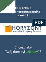 Energooszczędne Projekty Domów Horyzont