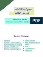 7- WBC count