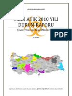 2010 tıbbi atık durum raporu