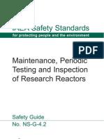 IAEA Safety - Maintenance