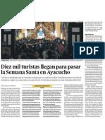 Semana Santa en Ayacucho atrae a 10,000 turistas