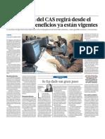 Se eliminó la Contratación Administrativa de Servicios (CAS) en Perú