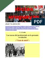 Noticias Uruguayas sábado 7 de abril de 2012
