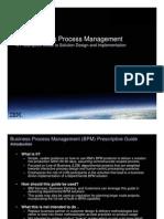 2009 08 31 BPM Prescriptive Guide