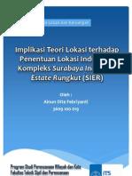 Implikasi Teori Lokasi Terhadap Penentuan Lokasi Industri di Kompleks Surabaya Industrial Estate
