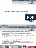 Filmgate Technical Screen Print Information