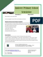 Newsletter - Mar 2012