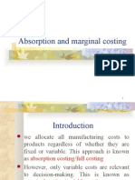 Absorption and Marginal Costing