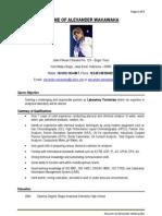 Contoh Resume Lab Technician