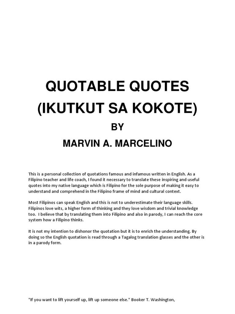 Quotable Quote Ikutkut Sa Kokote Tagalog Language Asia