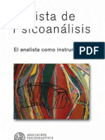 RevPsico El Analista Como Instrumento