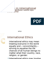 Ethics in International Scenario