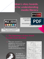Children's story boards. A key tool for understanding media literacy. Presentación 2010.