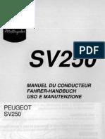 Manuale Peugeot Sv 250