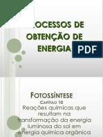 2.1 Processos de obtenção de energia na célula (slides)