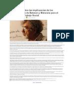 Reflexiones Sobre Las Implicancias de Los Planteamientos de Bateson y Maturana Para El Quehacer Del Trabajo Social