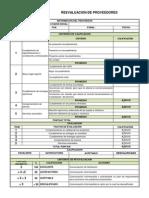 Formato Re-evaluacion de Proveedores