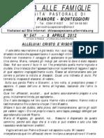 Lettera alle Famiglie - 8 aprile 2012