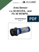 FA30 Area Sensor Manual