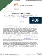 Case - Fairbanks v. Superior Court