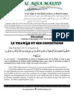 LE THAWÀB ET SES CONDITIONS