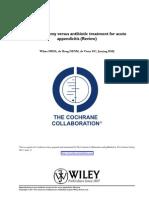 Appendectomy Versus Antibiotic Treatment for Acute Appendicitis