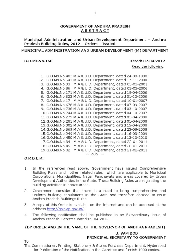 Andhra pradesh building rules 2012 go168 ma dated 0704 andhra pradesh building rules 2012 go168 ma dated 07042012 transport business yadclub Gallery
