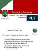 MB 03 Formation&Classificationoforganisations