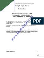GAT Sample Paper C www.BooknStuff.com
