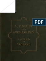 Authority & Archaeology [1899]