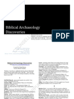 Biblical Archaeological Discoveries