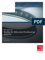Rating the Television Broadcasting Industry