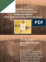 EQUIPO DE TRABAJO Y TECNÓLOGO MÉDICO