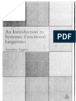 Eggins Systemic Functional Linguistics