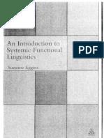 Eggins Systemic Functional Linguistics