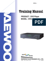 DVD Daewoo DVG Series Training Manual
