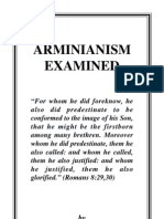 Arminianism Examined (Pro-Calvinist View)