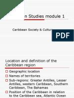 m 1 Caribbean Studies Module 1