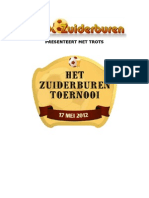 Programmaboekje Zuiderburentoernooi 2012