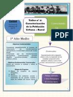 Taller n° 1 Caracterización de la Población Urbana – Rural